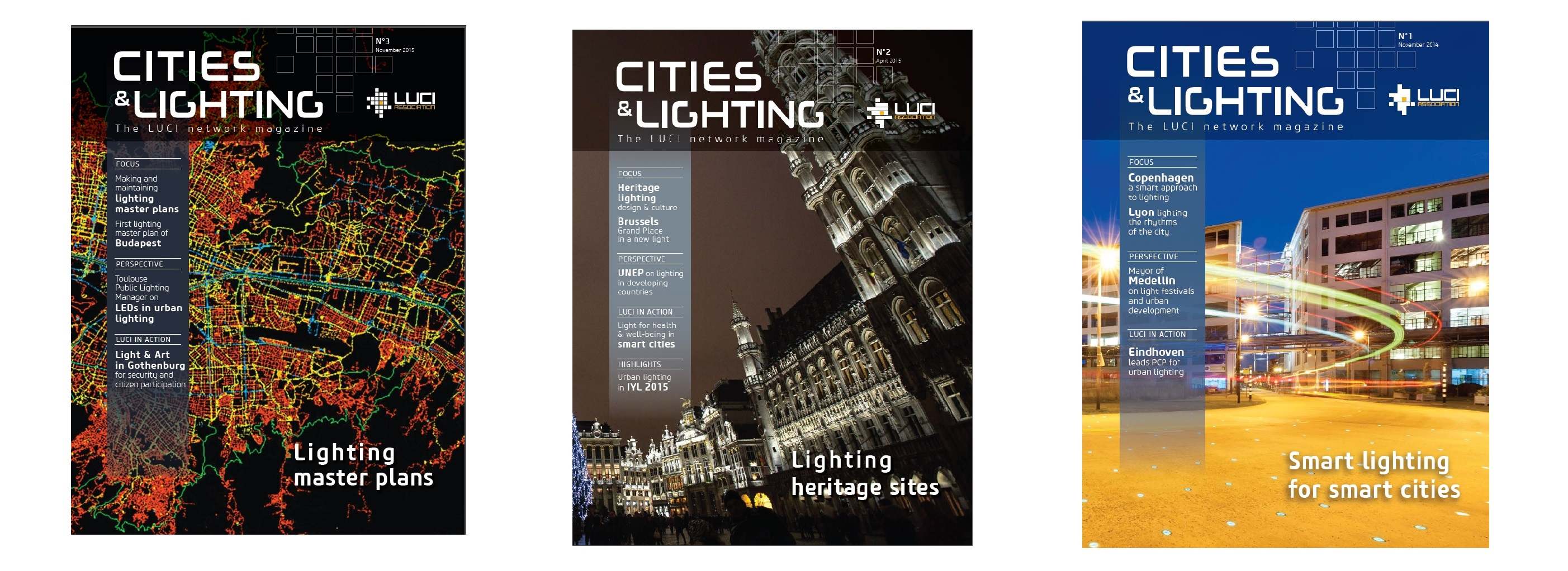 covers Cities & Lighting 1 to 3