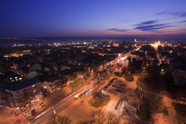 Ensemble view of the city of Varna, Bulgaria