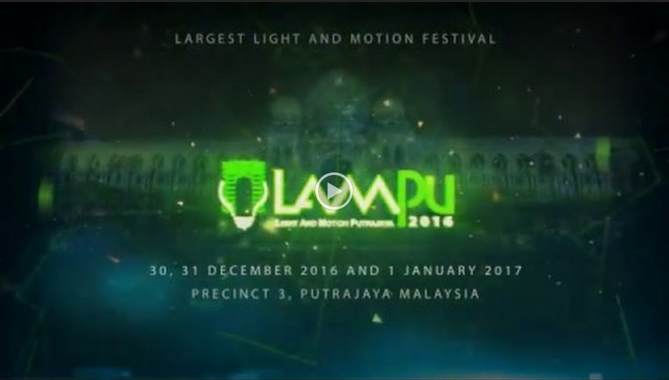 image video Putrajaya lampu 2016