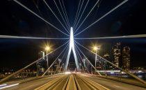 New LED lighting for Rotterdam's iconic Erasmus Bridge