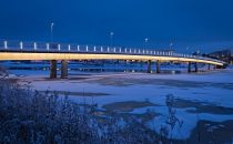 Nordic light in Oulu: the Bridges of Pikisaari