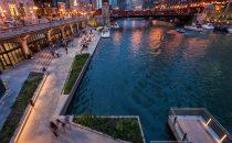 New lighting for Chicago Riverwalk