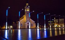 Tallinn marks Estonian centenary celebrations with light