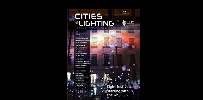 Latest issue of Cities & Lighting magazine: light festivals