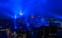 Eindhoven sends hope to the world with largest-ever site-specific light artwork