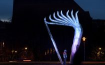New commemorative light art in Eindhoven